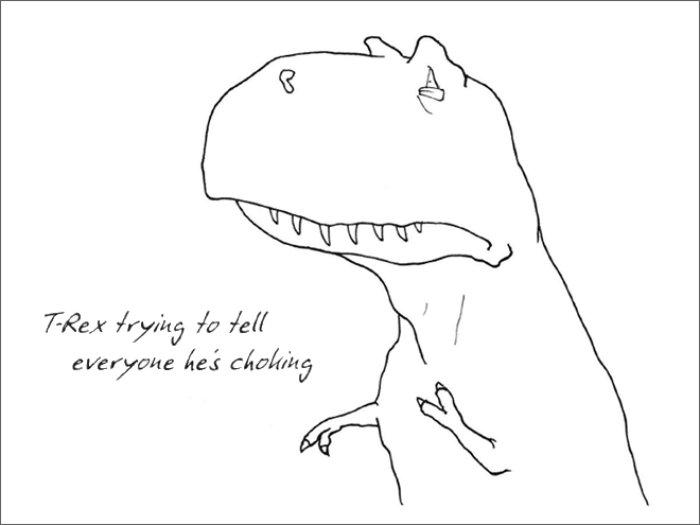 Сложности жизни Ти-Рекса в забавных иллюстрациях