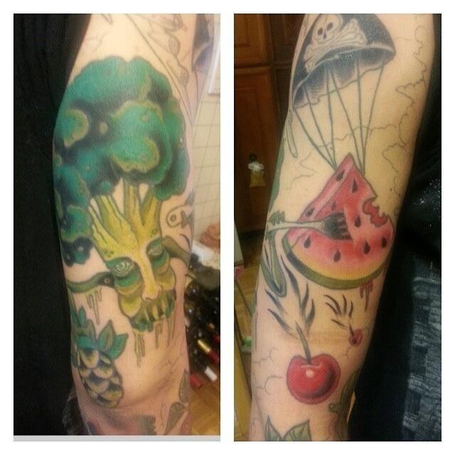 Когда за вегана все скажет татуировка