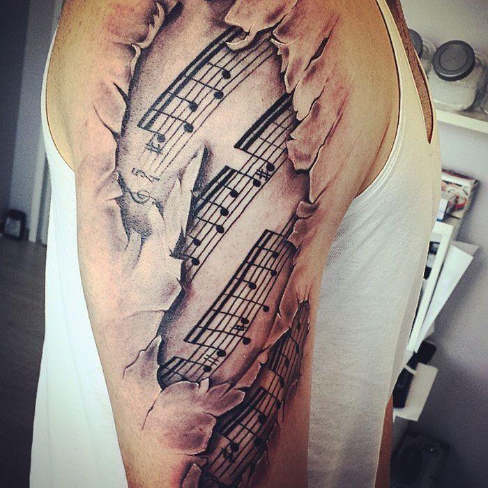 Реалистичные 3D татуировки