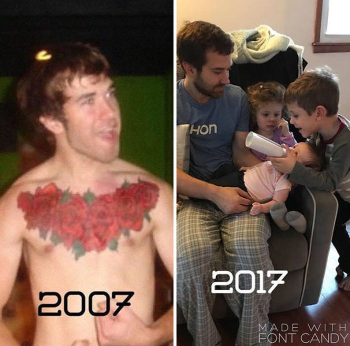 Жизнь людей до и после рождения детей