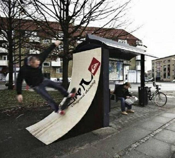 Отличные дизайнерские идеи для городских улиц
