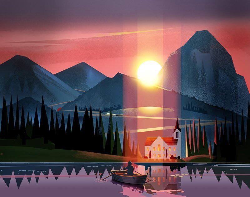 Уютные иллюстрации от Дэвида Мура