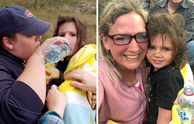 В Австралии пес спас 3-летнюю заблудившуюся девочку