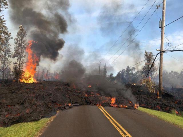 Извергающийся вулкан превратил райские Гавайи в преисподнюю