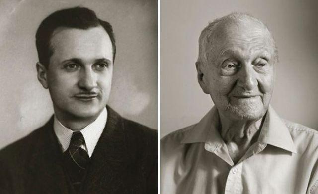 Старожилы Чехии в молодости и сейчас