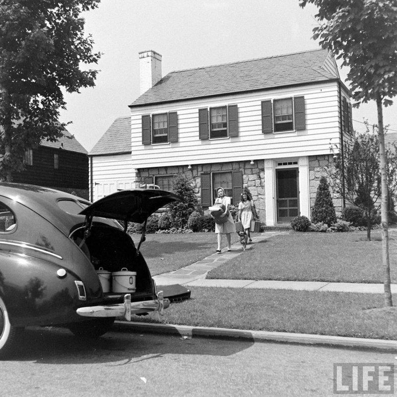 Жизнь спальных пригородов штата Нью-Йорк в конце 1940-х