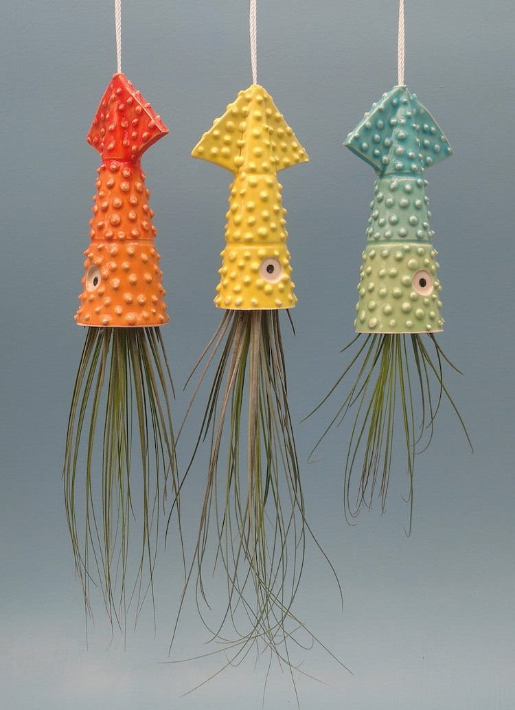 Цветочные горшки, похожие на морских обитателей