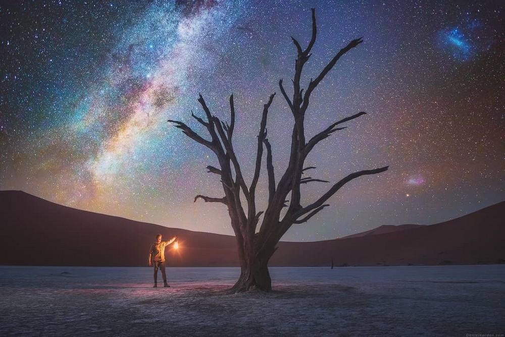 Звездное небо над пустыней Намиб от Даниила Коржонова
