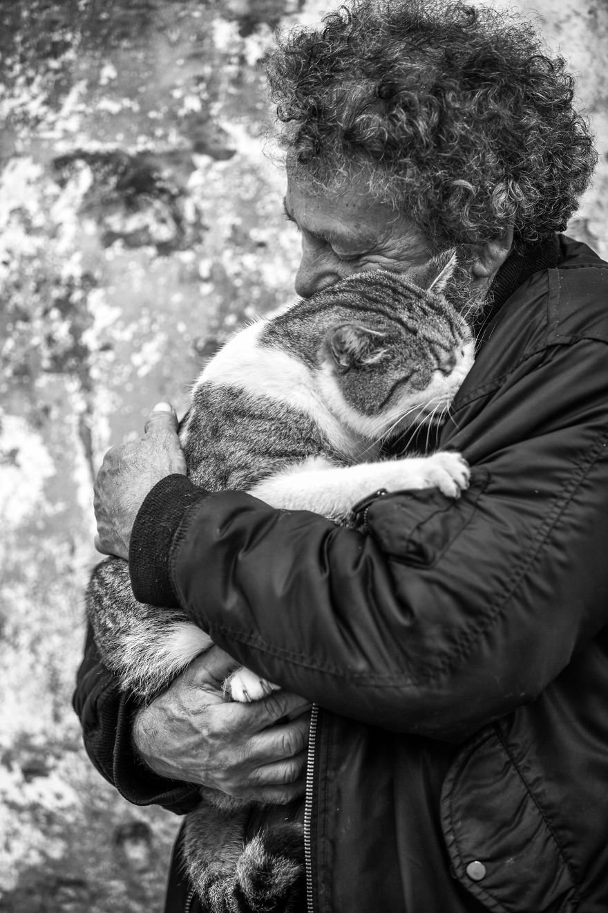 Милые мужчины и их коты от фотографа Сабрины Боем