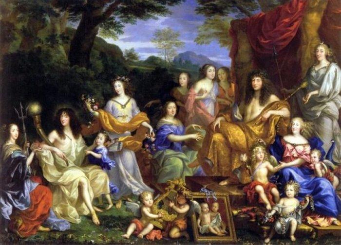 Король Франции Людовик XIV, который ввел моду на роды на спине