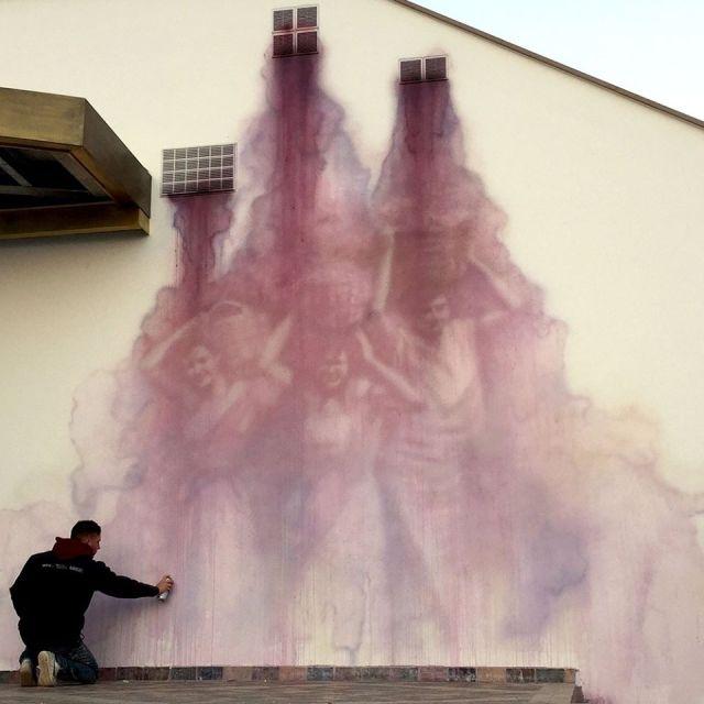 Жутковатые уличные рисунки