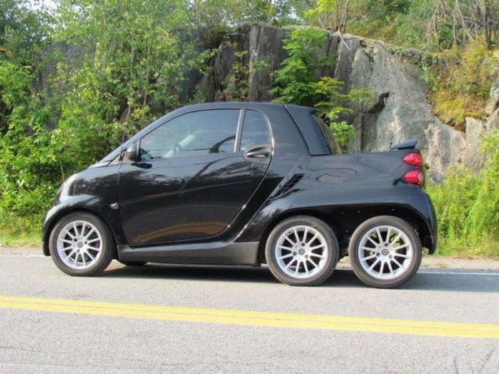 В Канаде Smart превратили в шестиколесный пикап