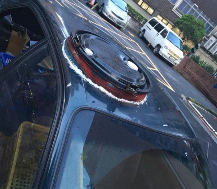 Самодельный люк в крыше автомобиля