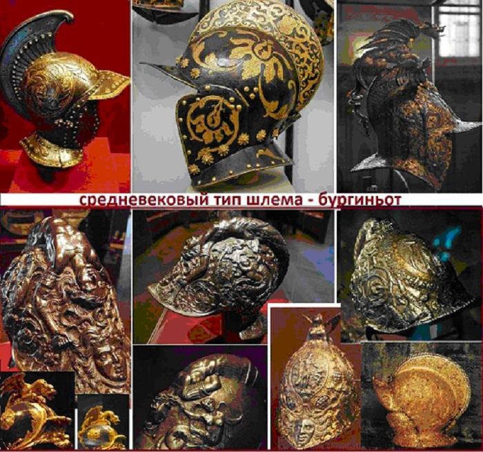Устрашающие и забавные рыцарские шлемы