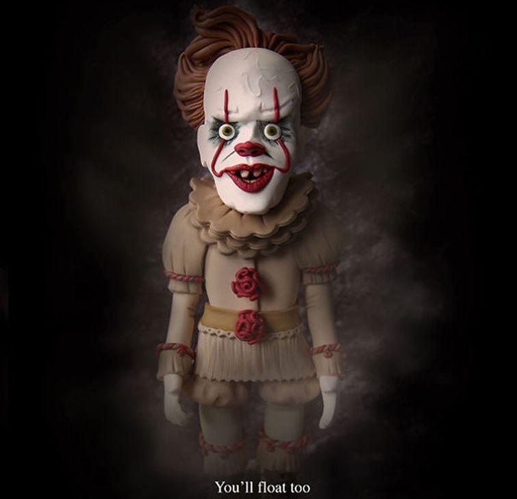 20 постеров к фильмам ужасов, сделанных из полимерной глины