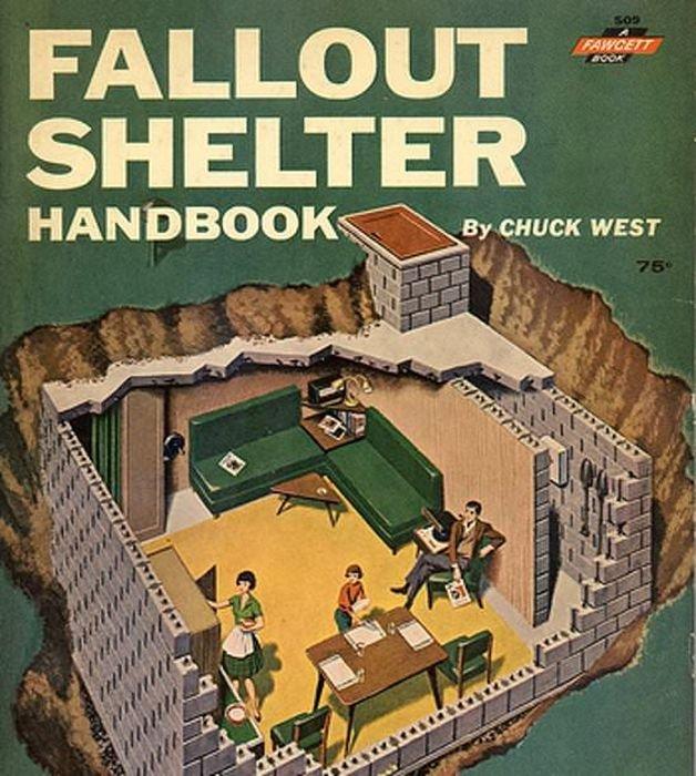 Подземный бункер времен холодной войны на территории дома