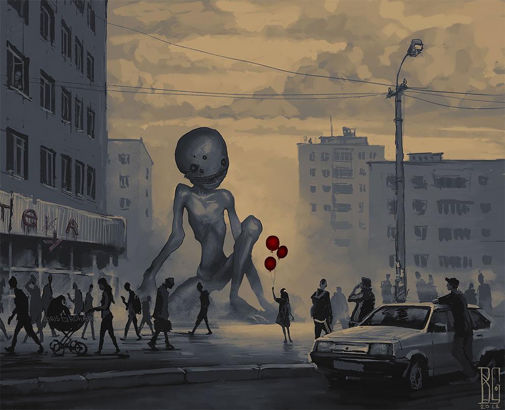 Мрачные хоррор-иллюстрации от Бориса Гроха