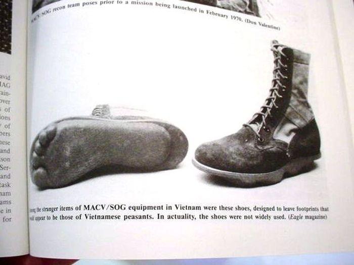 Особая обувь спецназа США во Вьетнаме