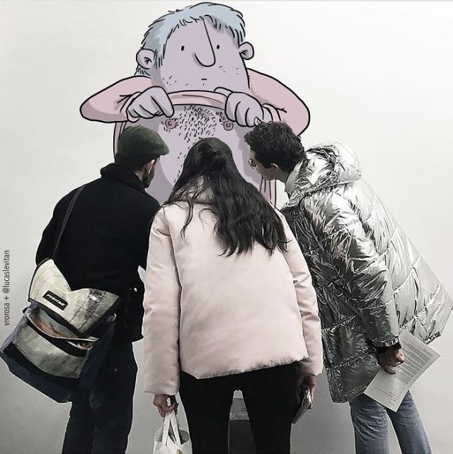 Фото вторжение: забавные персонажи на обычных снимках