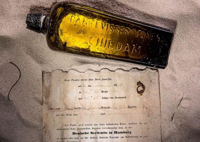 Старейшая в мире записка в бутылке