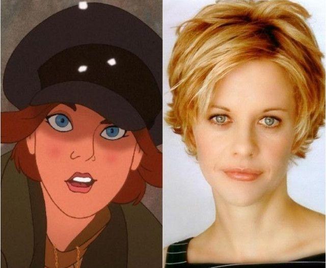 Герои мультфильмов, которые похожи на известных актеров