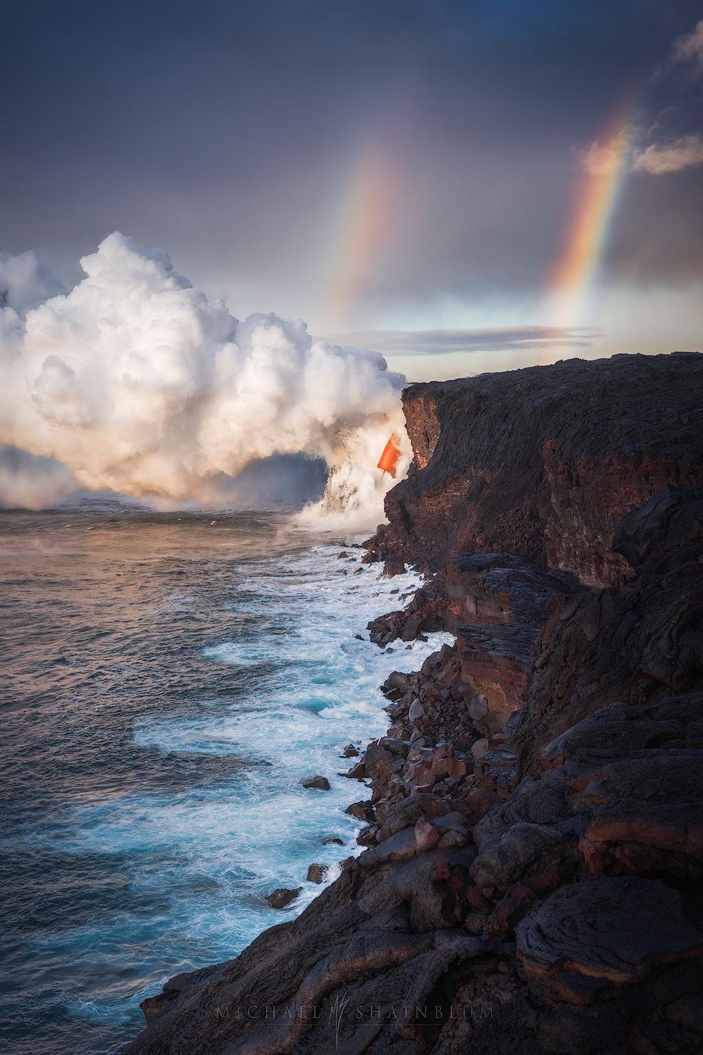 Лавовый каскад на Гавайях