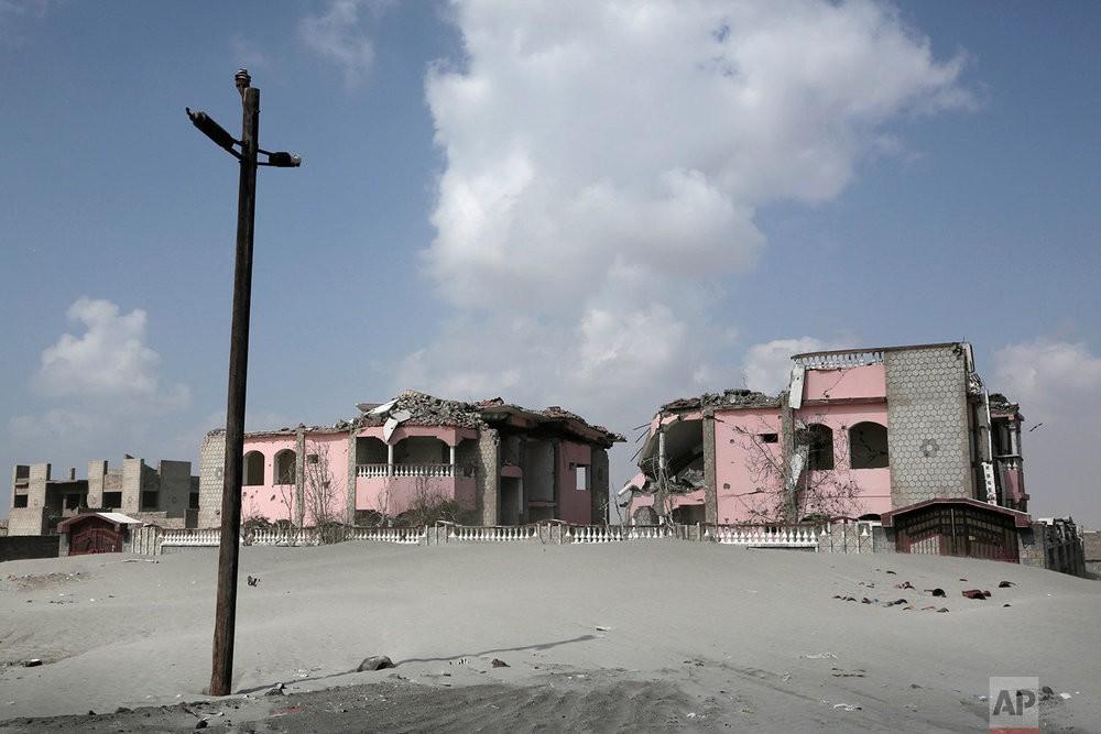 Улицы портового города Аден после гражданской войны