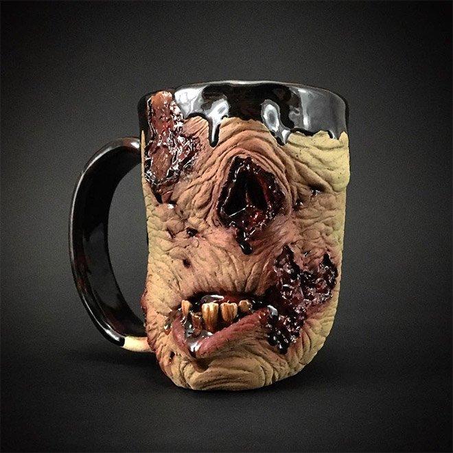 Зомби-чашки от Кевина Мерка