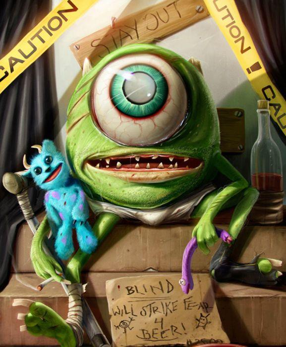 Герои мультфильмов в необычном образе
