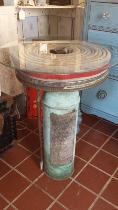 Предметы декора из старых огнетушителей