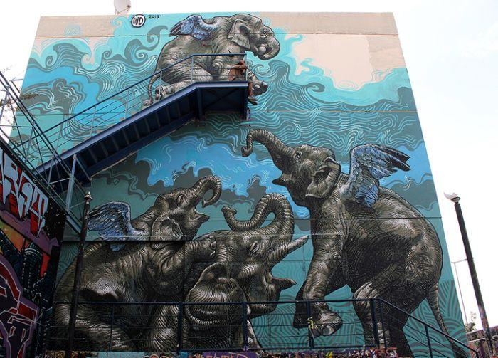 Трехмерные рисунки уличных художников