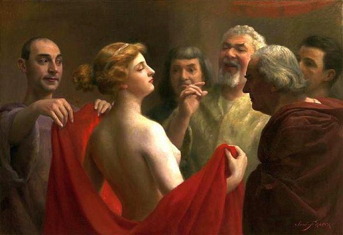 Как красивая грудь помогла греческой гетере избежать казни