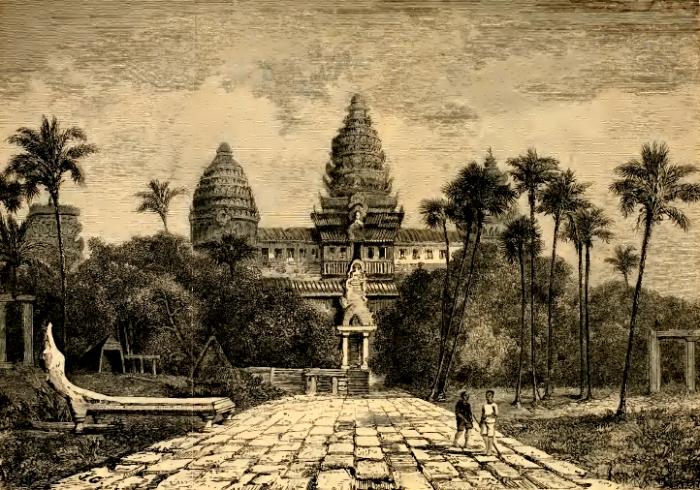 Заброшенный древний город Ангкор в джунглях
