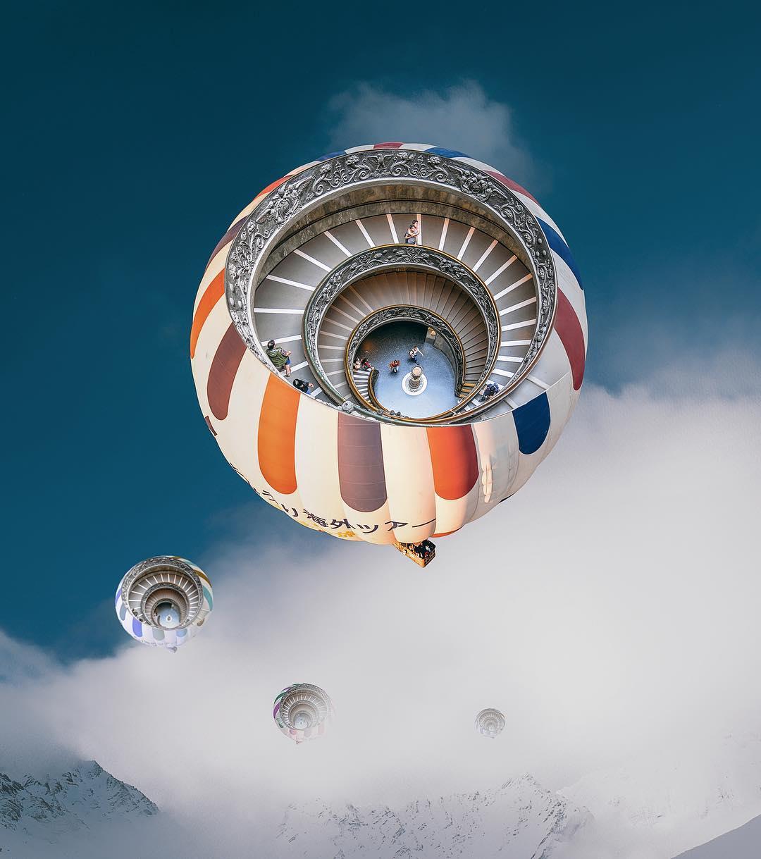 Впечатляющие фотоколлажи от Хусейна Шахина