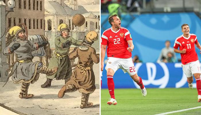 Как менялась одежда футболистов