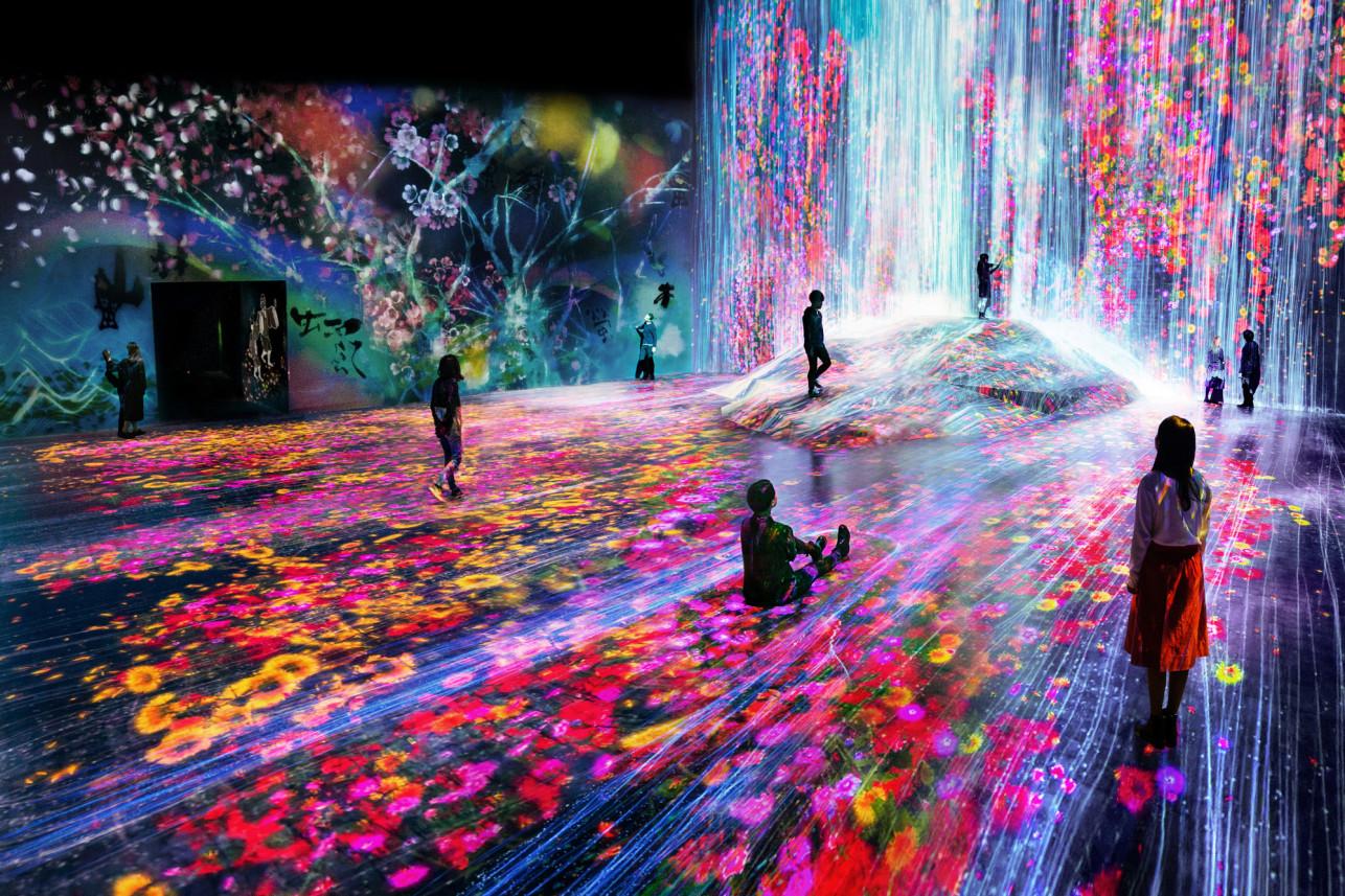 Музей цифрового искусства Mori Building в Токио
