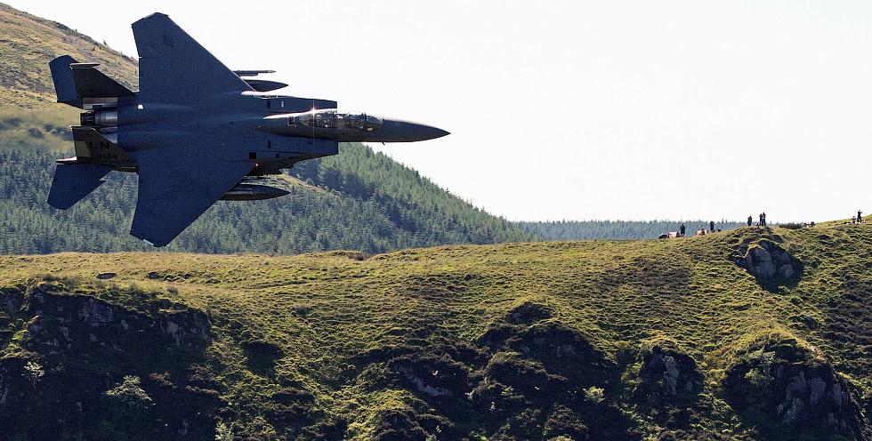 Необычный взгляд на истребитель F-15E Strike Eagle