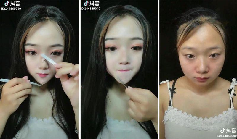 Макияж и накладные носы азиатских куколок