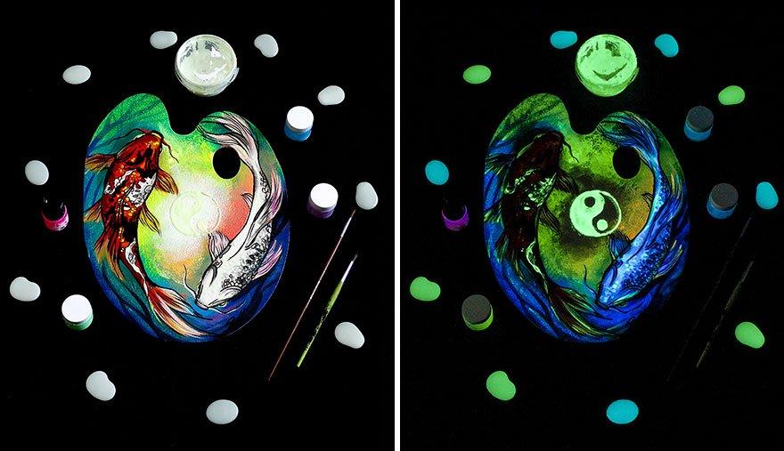 Рисунки Вивьен Санисло раскрываются в темноте