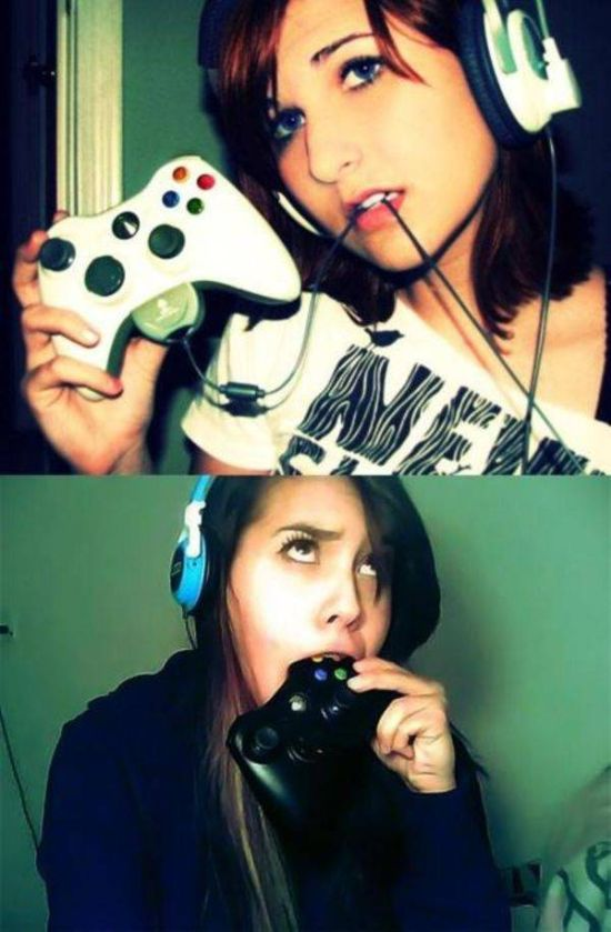 Красивые девушки любят видеоигры и косплей