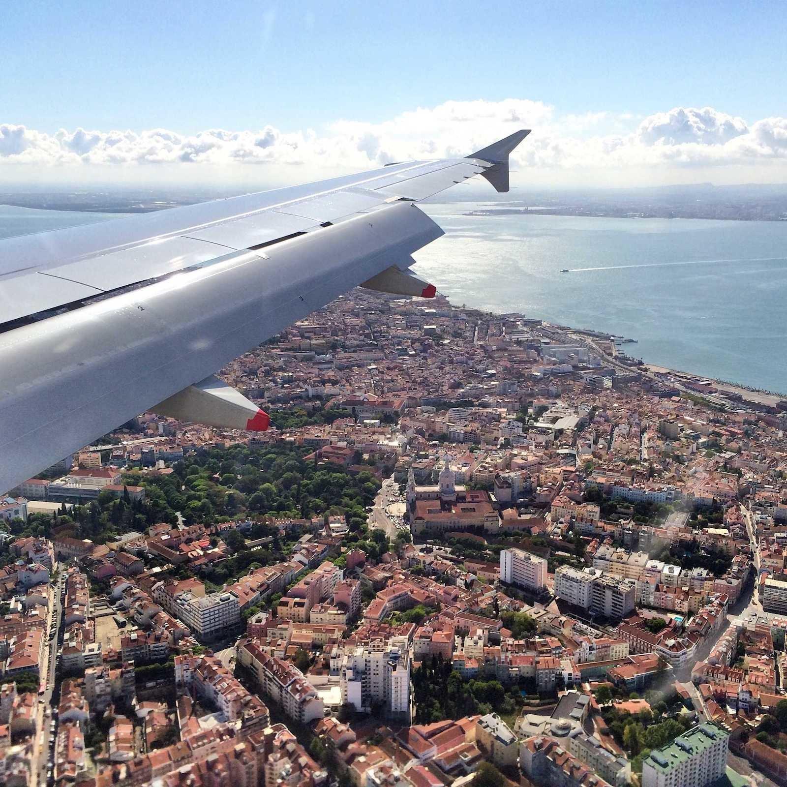 Красочные фото из окна самолёта