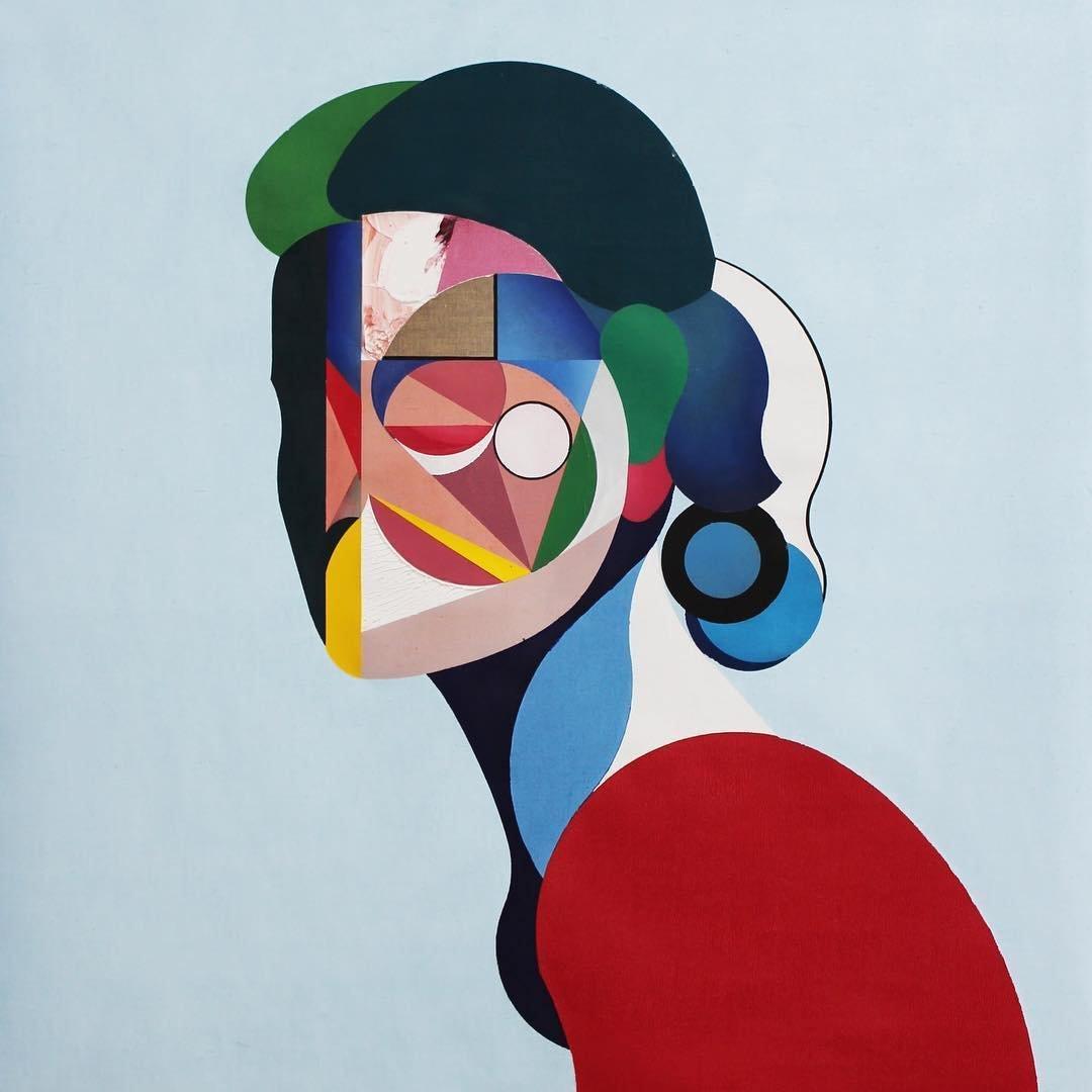Портреты в стиле кубизма от Райана Хьюэтта