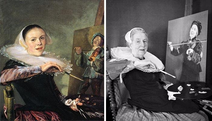 66-летняя женщина воссоздает знаменитые картины