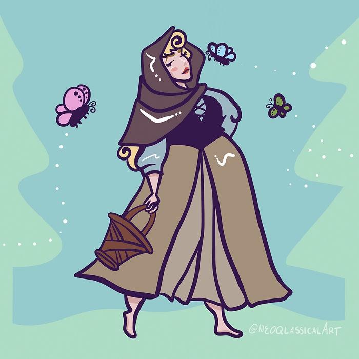 Художник превратил диснеевских принцесс в женщин размера плюс