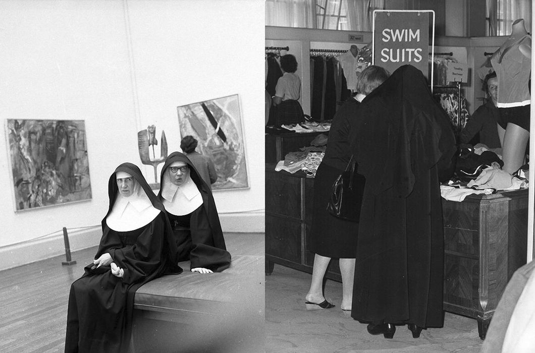 Жизнь монахинь на ретро снимках