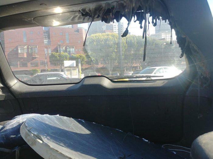 Параболическое зеркало целый день пролежало в машине