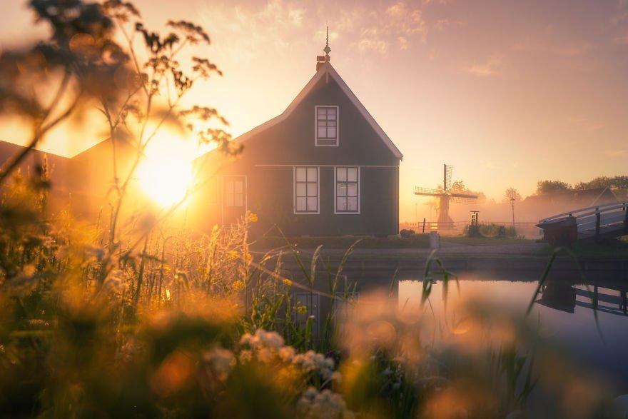 Голландская деревня мельниц от Альберта Дроса