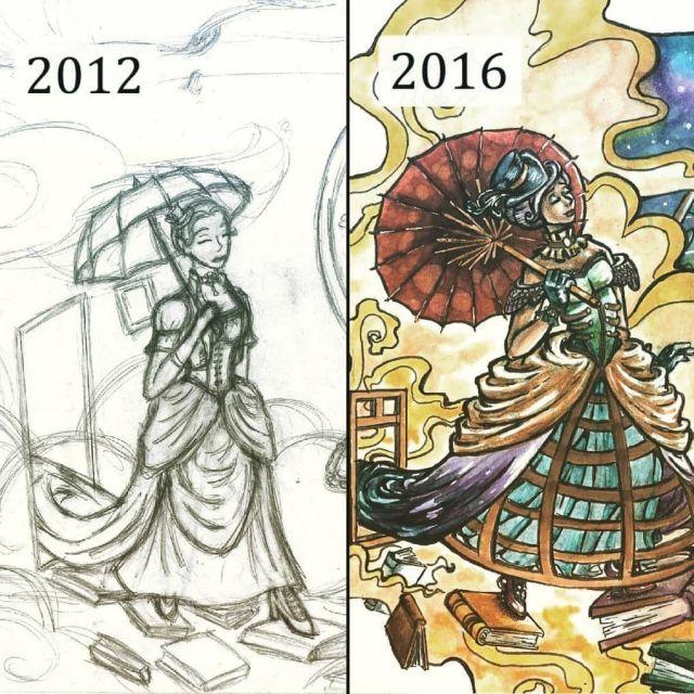 Художники заново перерисовывают свои старые работы