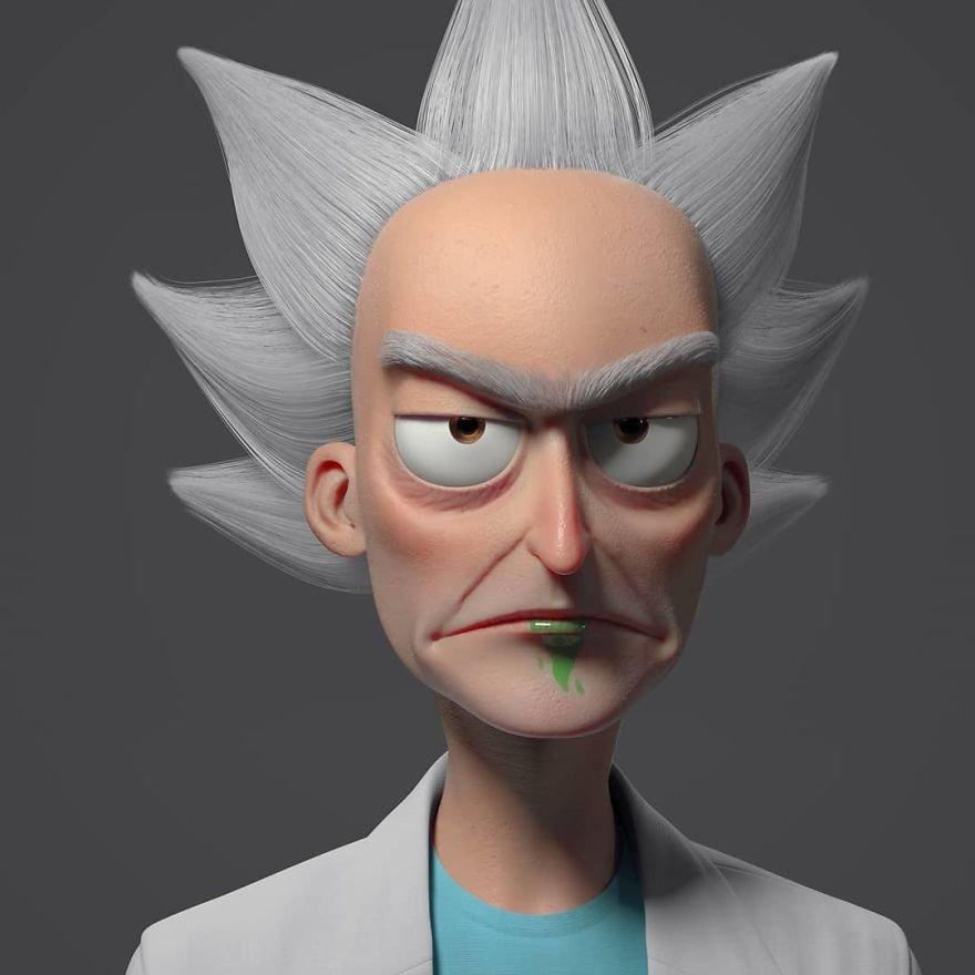 3D-портреты знаменитых людей и персонажей от Густаво Суареша