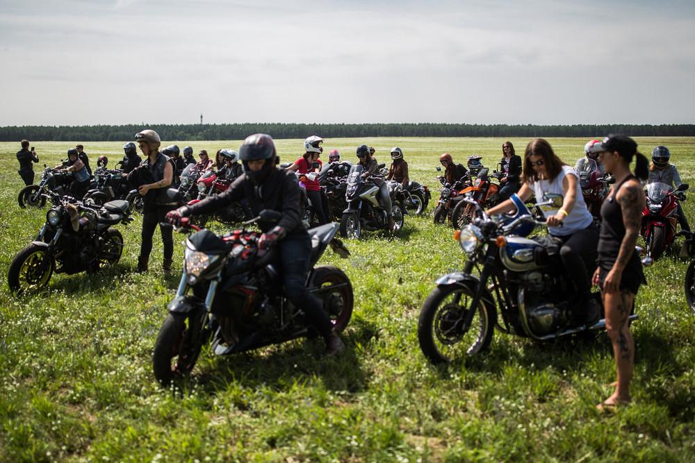 Ежегодный слет женщин-байкеров в Германии